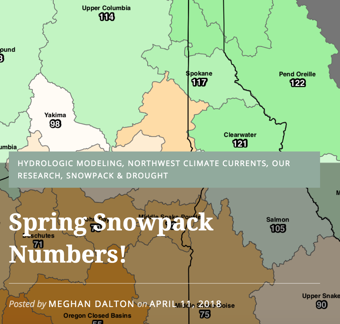 Winter Snowpack Numbers